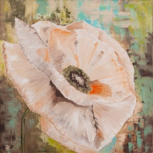 'Pink Poppy', 2017, oil on canvas