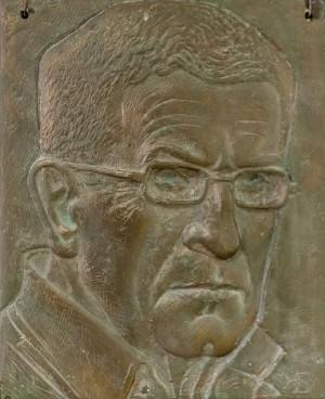 B. Korzh Portrait of V.Prykhodko', gesso