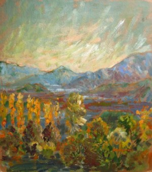 Shaianska Valley, 2009, oil on cardboard, 46х40