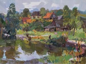 Ковач А., Краєвид з річкою, 2017, п. о., 60х80
