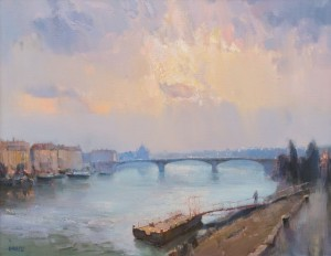 Budapest, 2014, oil on canvas
