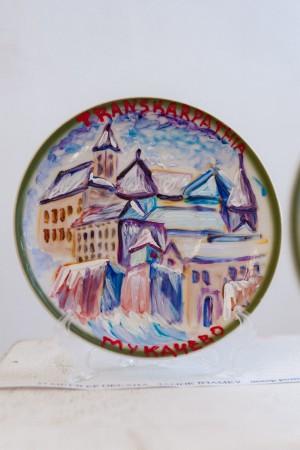 Мецгер О. 'Замок взимку', декор.розпис