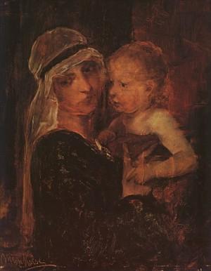 Мати з дитиною, 19 ст. п.о. 59х48