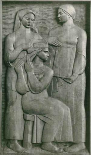 Із серії Життя і побут закарпатців, Невіста, 1981, дерево, 60х110