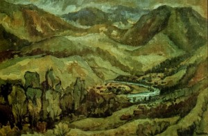 Melancholy of the Carpathians, 1984, masonite on canvas, 65x85