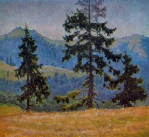 Fir Trees, 1978, oil on canvas