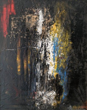 Ballad Of Paints, 2012, oil on cardboard, mixed technique, 83x67