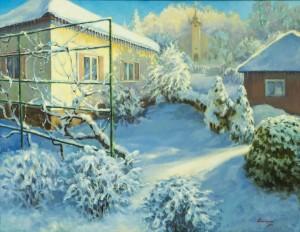 Зимовий настрій, 2017, п.о., 70х90