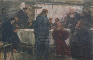 The Last Supper, canvas on cardboard, oil, 44,5х65