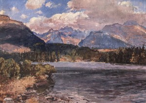 Tatranske Lake, 1959, oil on canvas, 62x88