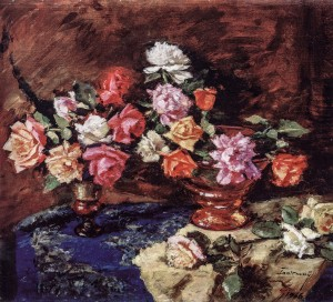 Roses, 1966, oil on canvas, 64x74