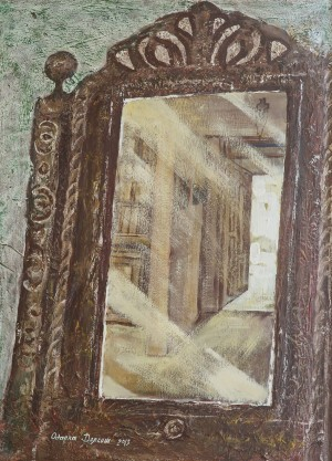 O. Dolhosh. Grandmothers Mirror, 2013, acrylic on cardboard