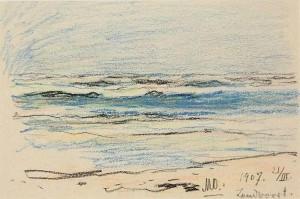 Seascape, pencil on paper,  13,8х21