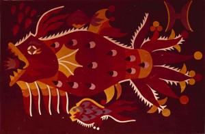 Знаки зодіака, декорат. композиція_6, 1974, карт., темпера, 53х36