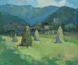 V. Dub Haystacks', 2017, oil on canvas, 60x70