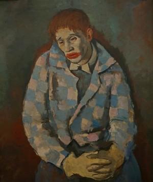 F. Erdeli. Clown, 1931, oil on canvas