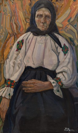 Aunt Melania', 1965, oil on canvas, 75x44