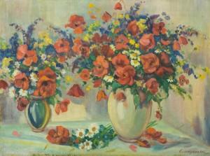 Натюрморт з польовими квітами, 1950-ті, п.о. 62,5х82,5