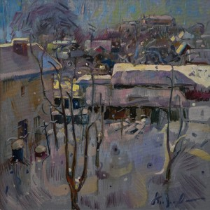 "A. Kopryva ""View From The Studio Window"", 2017, oil on canvas, 100x100"