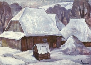 The Frost-Crack, 1986, oil on cardboard, 60х75