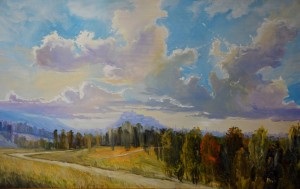 The Colours Of The Summer (near Mukachevo), 2012, oil on masonite, 71x122