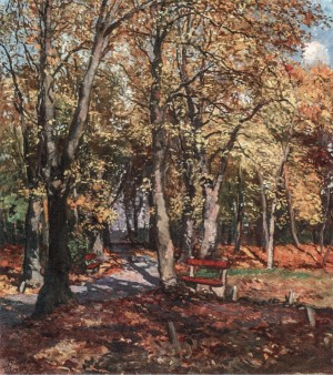 Uzhhorod. Autumn In The Park, 1935, oil on canvas, 100x90