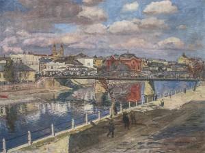 Uzhhorod, 1934, oil on canvas, 96x126