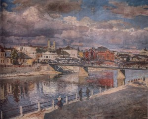 Uzhhorod, 1935, oil on canvas, 100x136