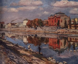 Uzhhorod, 1947, oil on canvas, 100x127