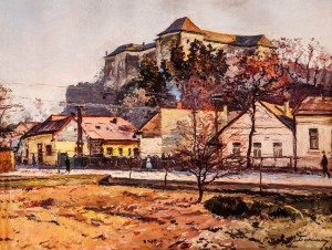 Uzhhorod Castle 2, 1960, oil on canvas, 67x89