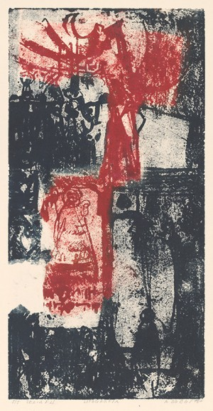 Series F4, 1970, white on paper