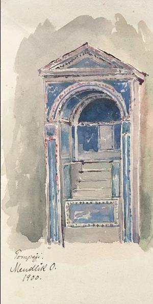 Pompeii, watercolour on paper, 25,5х11,7