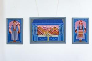 N. Kovach Triptych 'Painted Gates', 2018