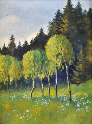 'On The Outskirts Of The Forest', 1935, oil on canvas, 61x46.jpg