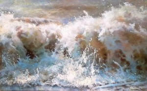 Spontaneous Wave, 2013, oil on canvas, 50x80