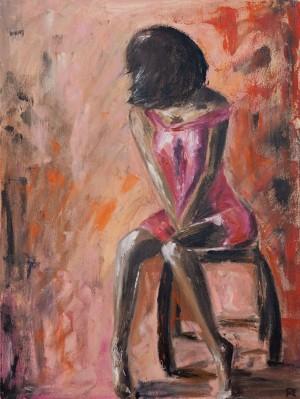 'Самотність у рожевому кольорі', 2018, п.о.