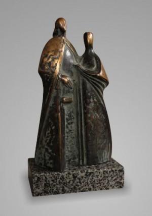 Андраш і Анастасія, 2002, бронза, граніт, 33х16х9