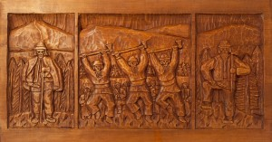 K. Kovhan 'A Woodcutter', wood carving