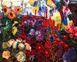 Квіти на подвір'ї, 2008., п.о., 95х120