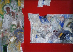 History of Orthodoxy In Transcarpathia, 2008, oil on cardboard