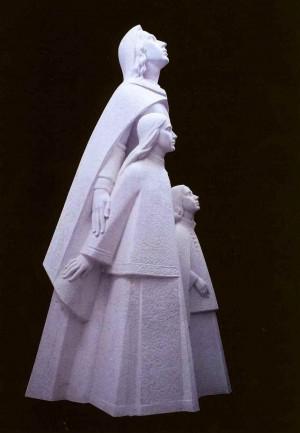 Ілона Зріні з дітьми. Гіпсова модель, для Мукачівського замку Паланок