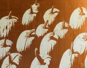 Зритмізовані рефлексії, 2017, 80х100