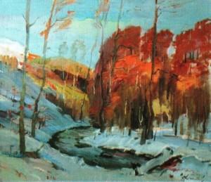 Осінь у снігу, 2003, 70х80