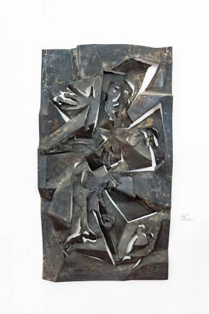 O. Yesiunin 'Crucifix', 1999, metal,relief work