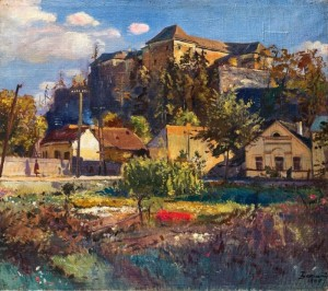 Uzhhorod Castle, 1947, oil on canvas, 90х102