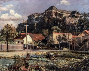 Uzhhorod Castle, 1949, oil on canvas, 68x84