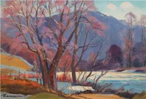 Ріка в горах, 1970 р, п.о. 54x80