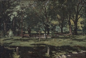Uzhhorod Park, 1930s, oil on canvas, 68x100