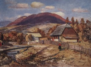 Uzhok Village, 1960, oil on canvas, 67,5х90