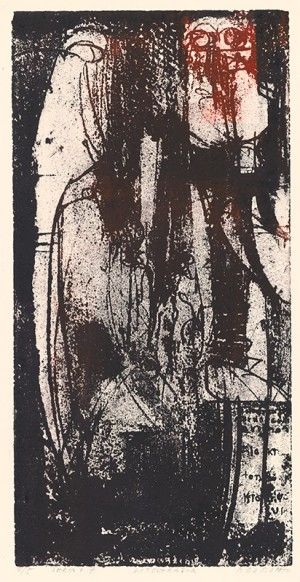 Series F7, 1970, white on paper